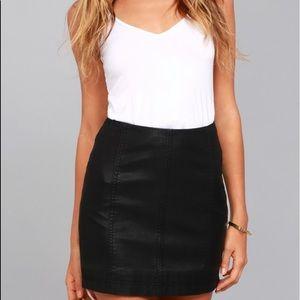 Free people black skirt!
